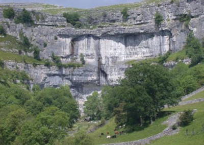 The cliffs at Malham Cove