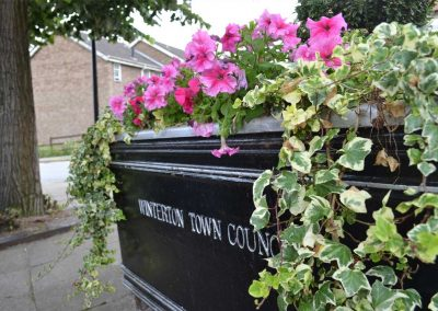 Winterton Town Council planter in full bloom